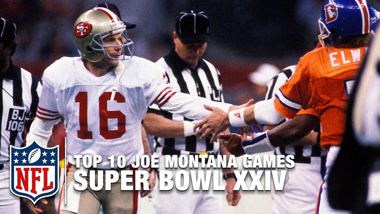 #6: Montana Vs. Elway (Super Bowl Xxiv) | Top 10 Joe Montana Games Of All  Time | Nfl Films intended for Joe Montana Super Bowl