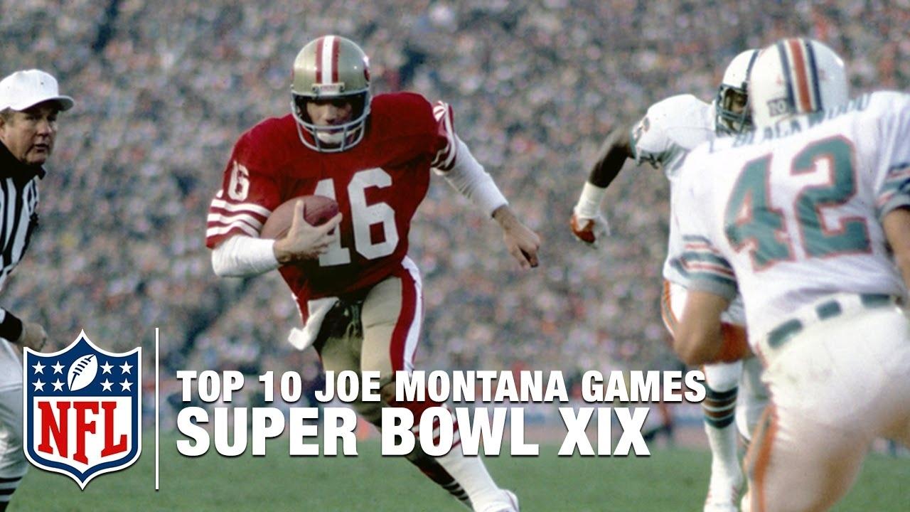 #8: Montana Vs. Marino (Super Bowl Xix) | Top 10 Joe Montana Games Of All  Time | Nfl Films for Joe Montana Super Bowl