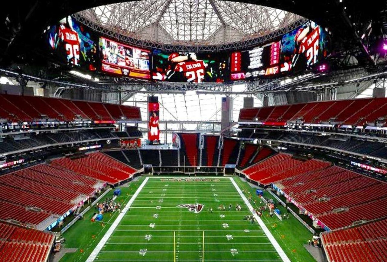 A Bird's-Eye View Of Mercedes-Benz Stadium, Atlanta's Epic with Super Bowl Seating Capacity Requirements