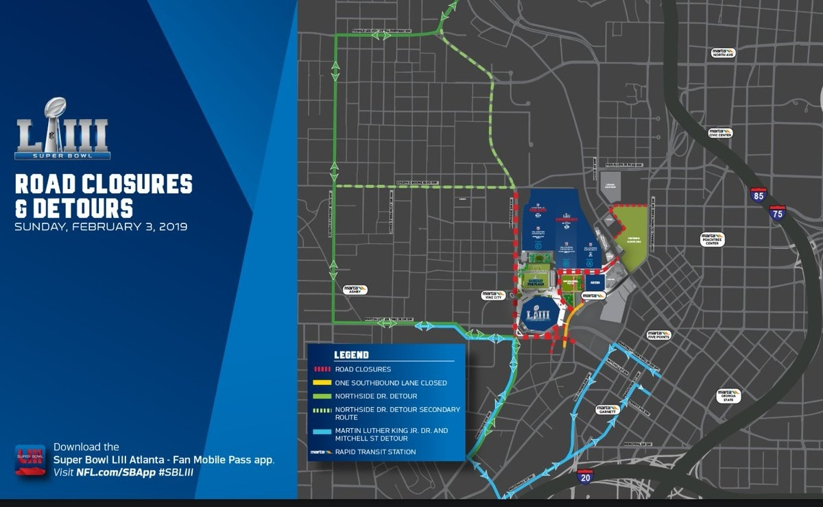 """Ajc Wsb Traffic On Twitter: """"today Is Atlanta's First Super for Super Bowl Traffic Map"""