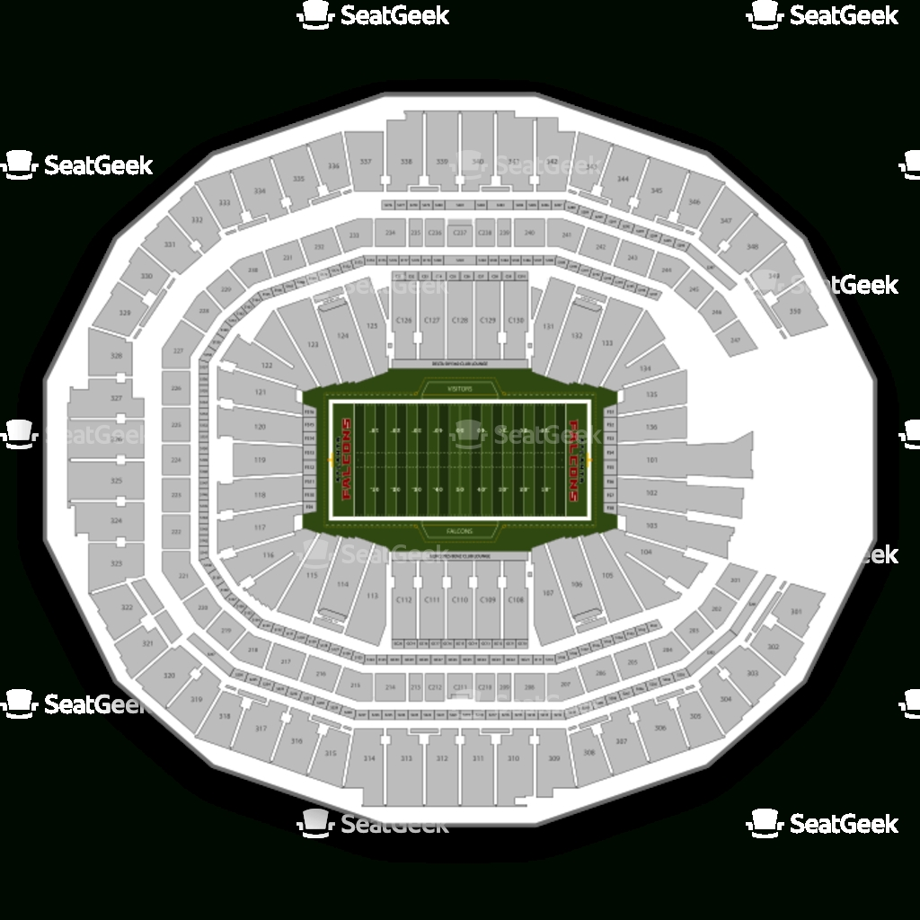 Atlanta Falcons Seating Chart & Map | Seatgeek for Atlanta Stadium Super Bowl Seating Chart