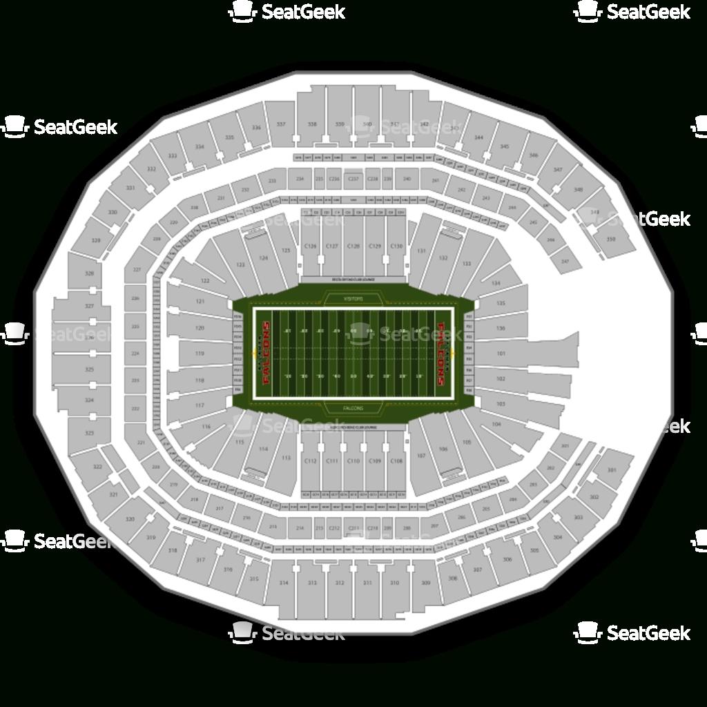 Atlanta Falcons Seating Chart & Map | Seatgeek in Super Bowl Seating Chart Atlanta
