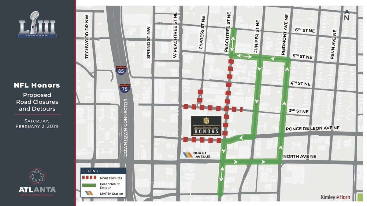 "Atlanta Super Bowl On Twitter: ""don't Forget! Road Closures in Map Of Street Closures For Super Bowl"