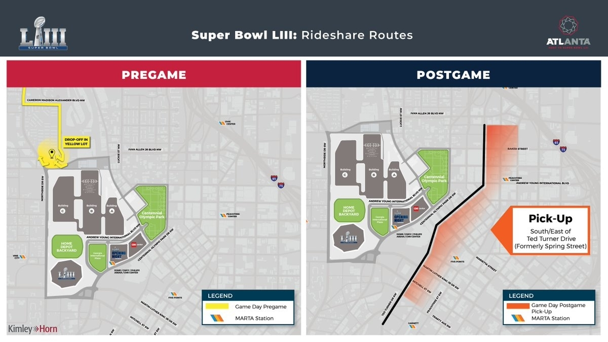 """Atlanta Super Bowl On Twitter: """"gameday Ready And Heading with regard to Super Bowl Game Day Map"""