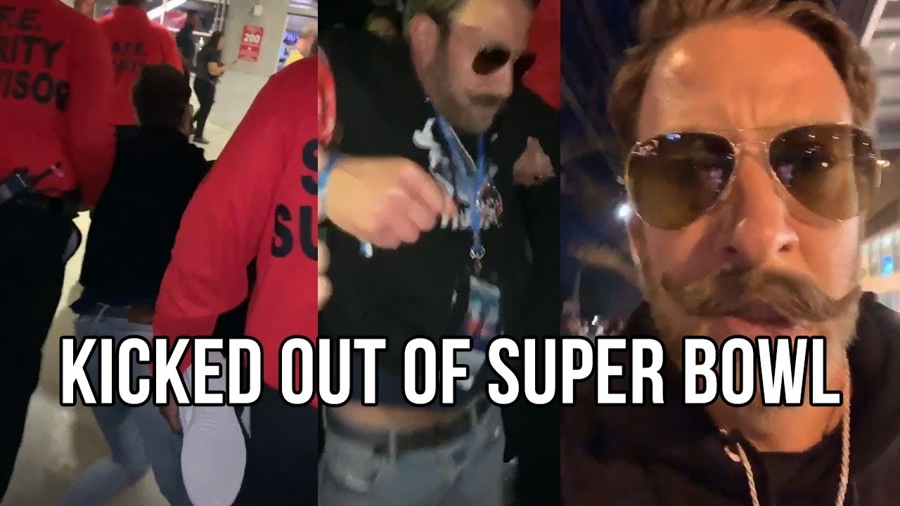 Barstool Sports Dave Portnoy Thrown Out Of Super Bowl During Halftime pertaining to Dave Portnoy Super Bowl