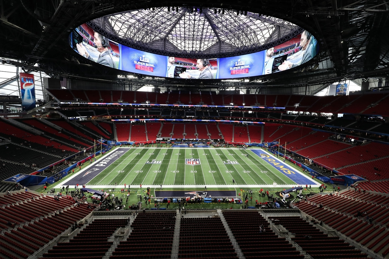Best Photos Of Super Bowl Liii | Nfl pertaining to Mercedes Benz Stadium Super Bowl Map
