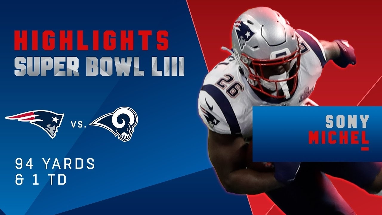 Best Runssony Michel Vs. Rams | Super Bowl Liii Player Highlights throughout Nfl Super Bowl Liii