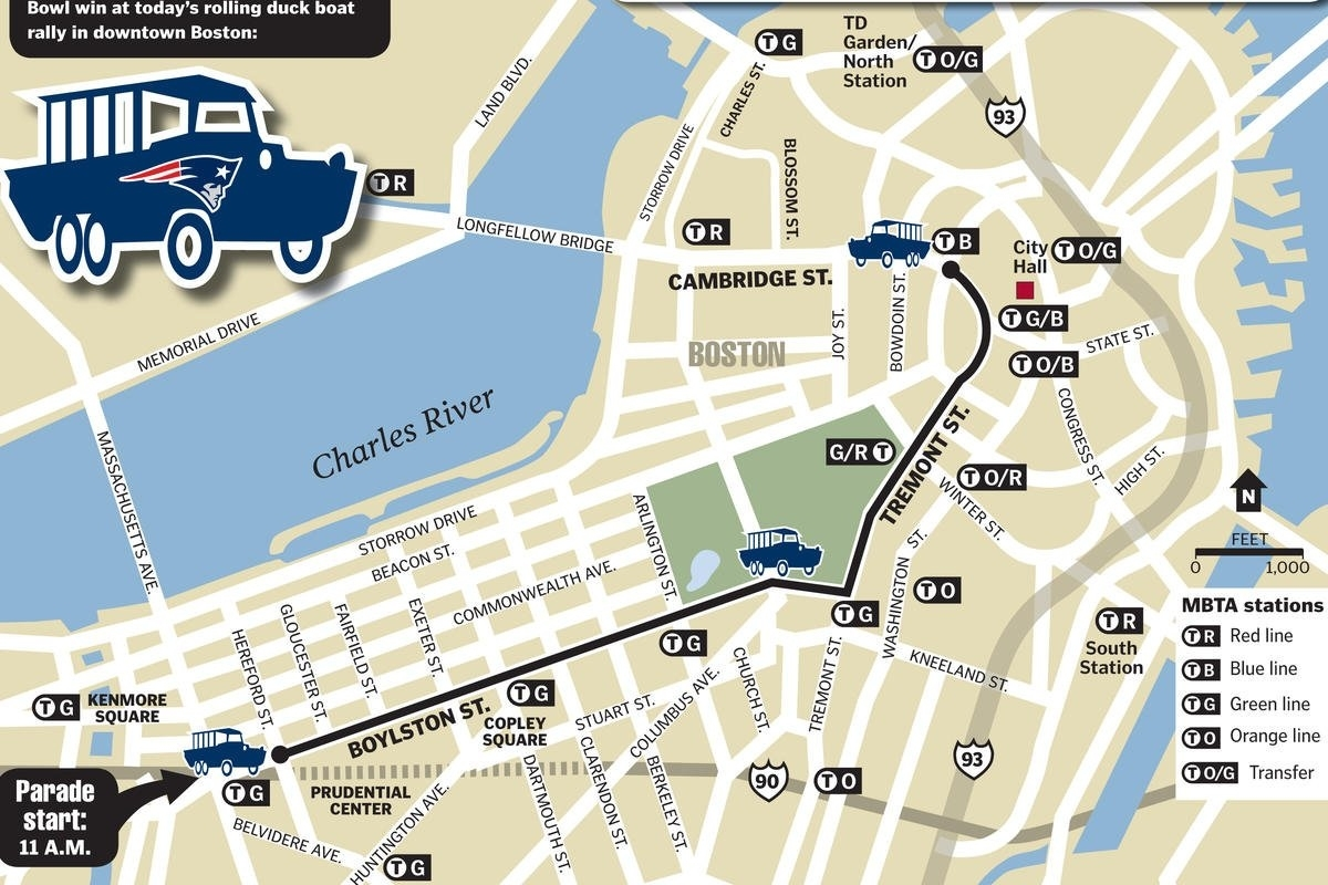 """Boston Herald On Twitter: """"#patriots #superbowl Victory with regard to Patriots Super Bowl Parade Map"""