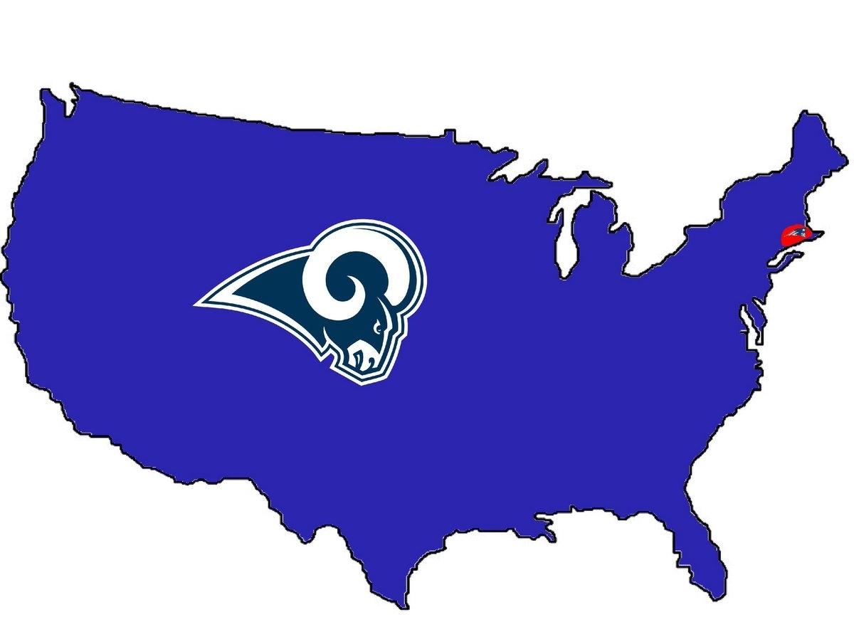 "Brad Devlin On Twitter: ""breaking: Map Shows Which Team with Super Bowl Liii Fan Map"
