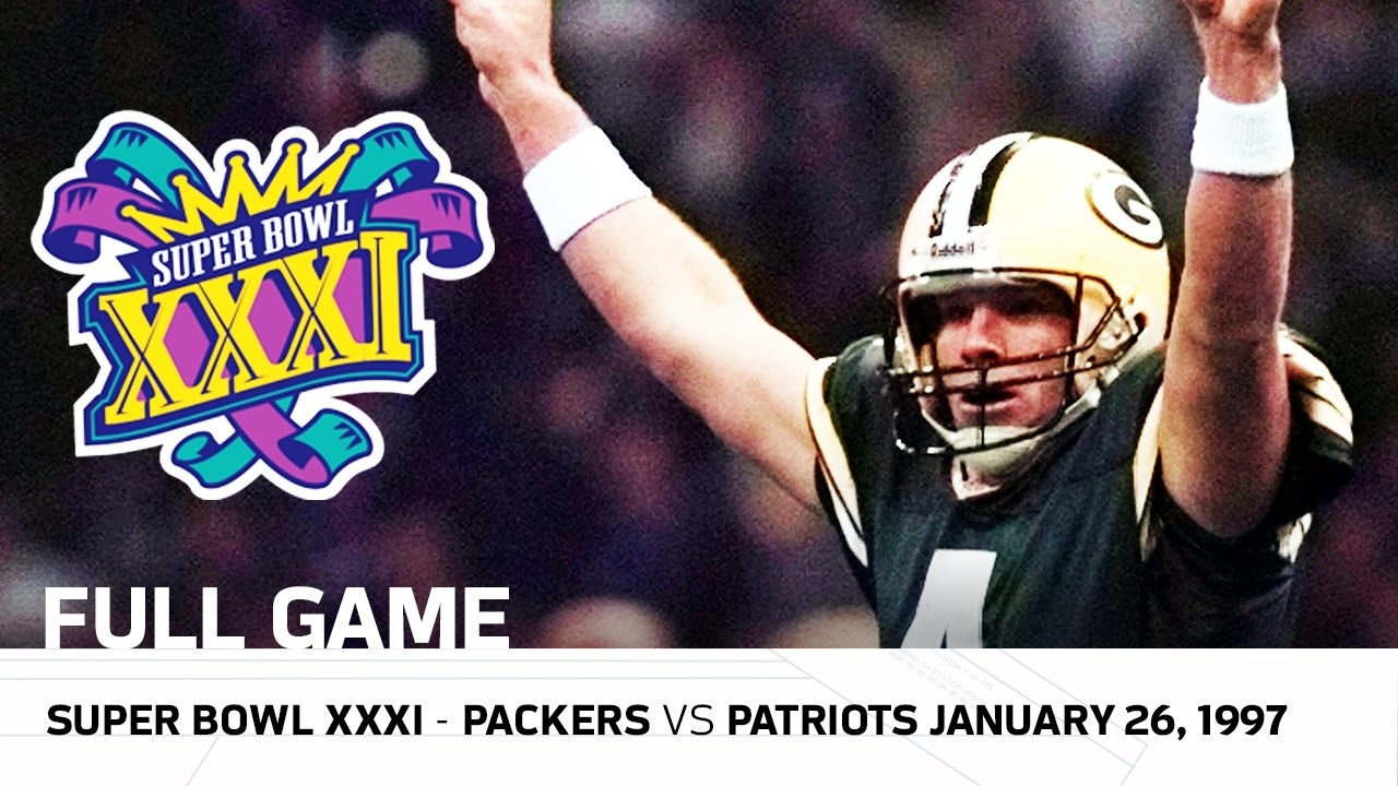 Brett Favre's First Super Bowl Win! | Packers Vs. Patriots Super Bowl Xxxi  | Nfl Full Game with Brett Favre Super Bowl
