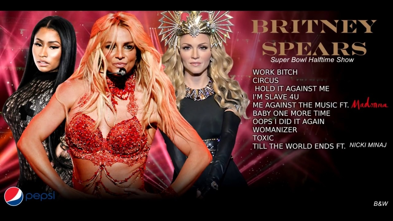Britney Spears - Super Bowl Half Time Show Ft Madonna & Nicki Minaj throughout Nicki Minaj Super Bowl