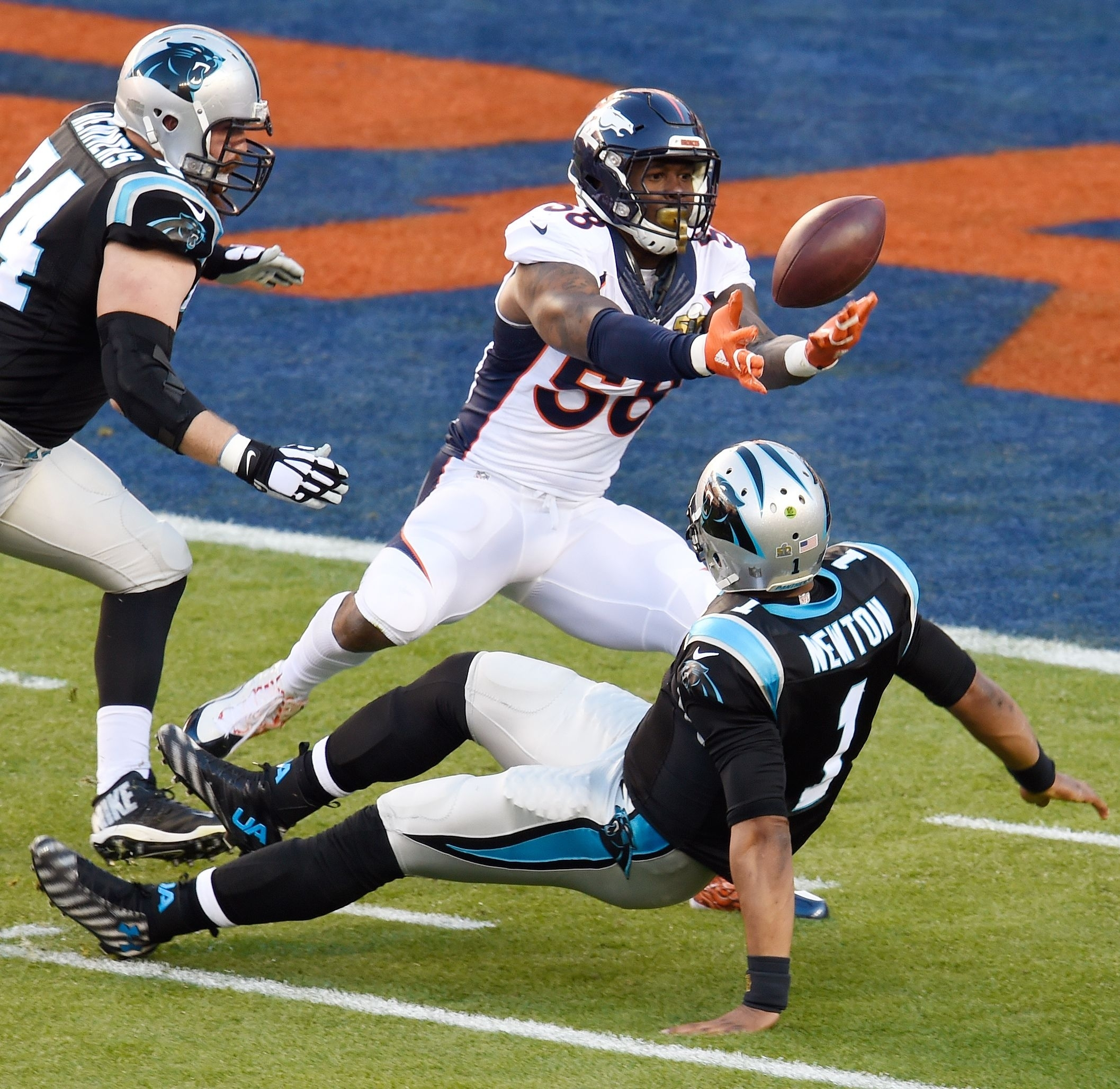 Cam Newton Fumble - Super Bowl 50 In Pictures - Espn within Cam Newton Super Bowl