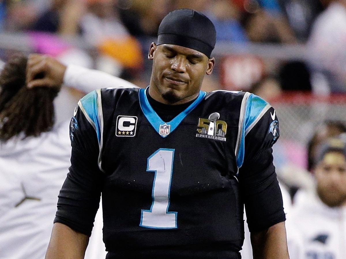 Cam Newton's Antics In Super Bowl 50 Loss Fuel Criticism inside Cam Newton Super Bowl