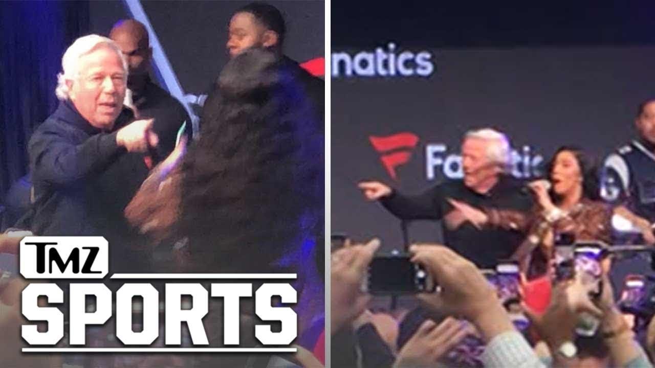 Cardi B Dances With Robert Kraft At Pre-Super Bowl Party, Meek Mill  Approves   Tmz Sports with regard to Robert Kraft Cardi B
