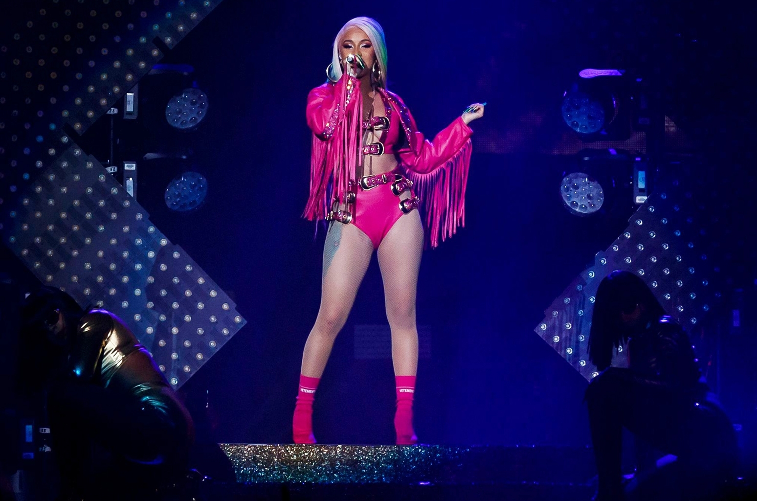 Cardi B's 'girls Like You' Performance In Atlanta: Watch with regard to Cardi B Super Bowl 2019