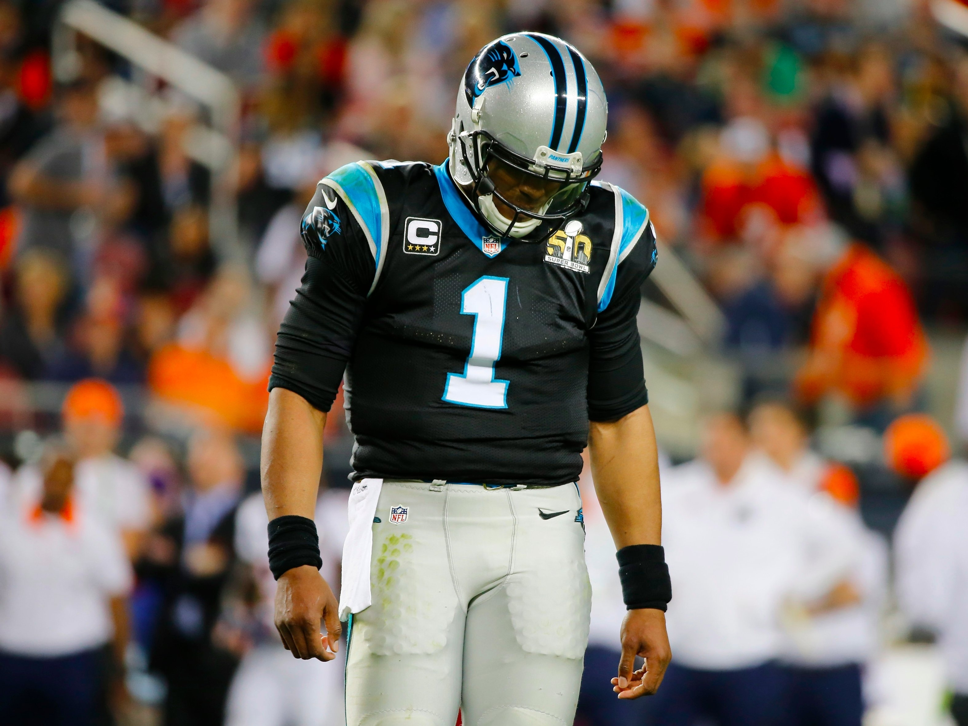 Carolina Panthers Qb Cam Newton Defends Being A 'sore Loser regarding Cam Newton Super Bowl