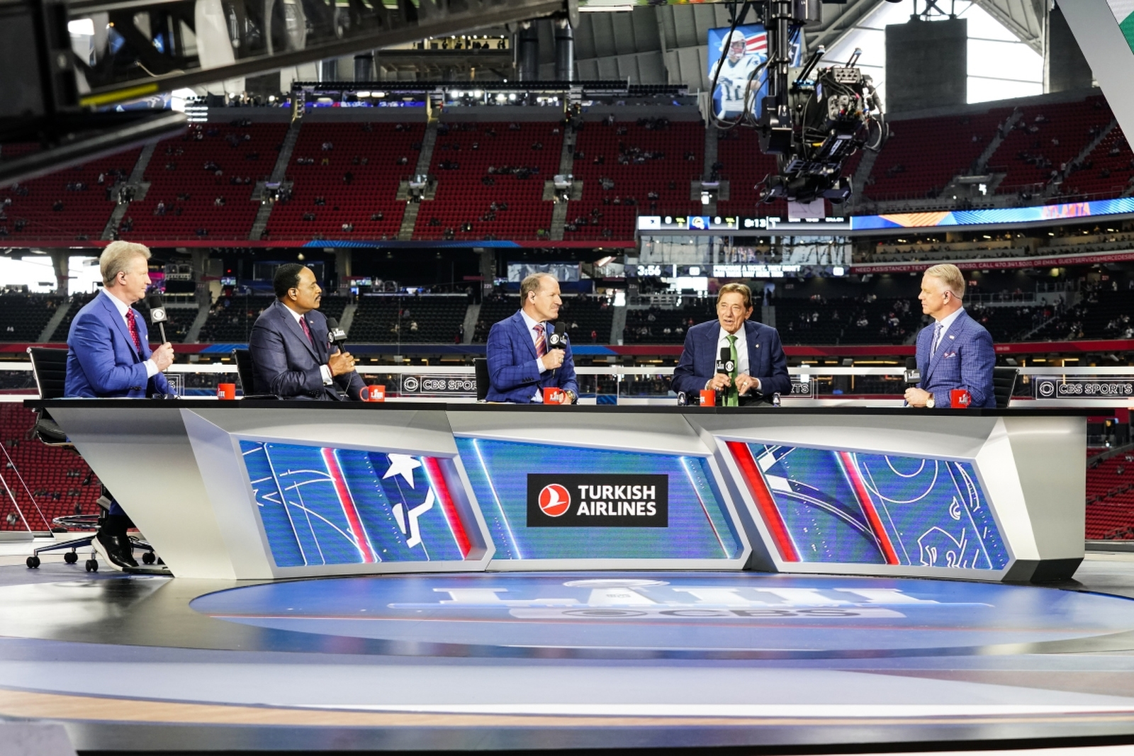 Cbs Super Bowl Liii Broadcast Set Design Gallery intended for Cbs Sports Super Bowl