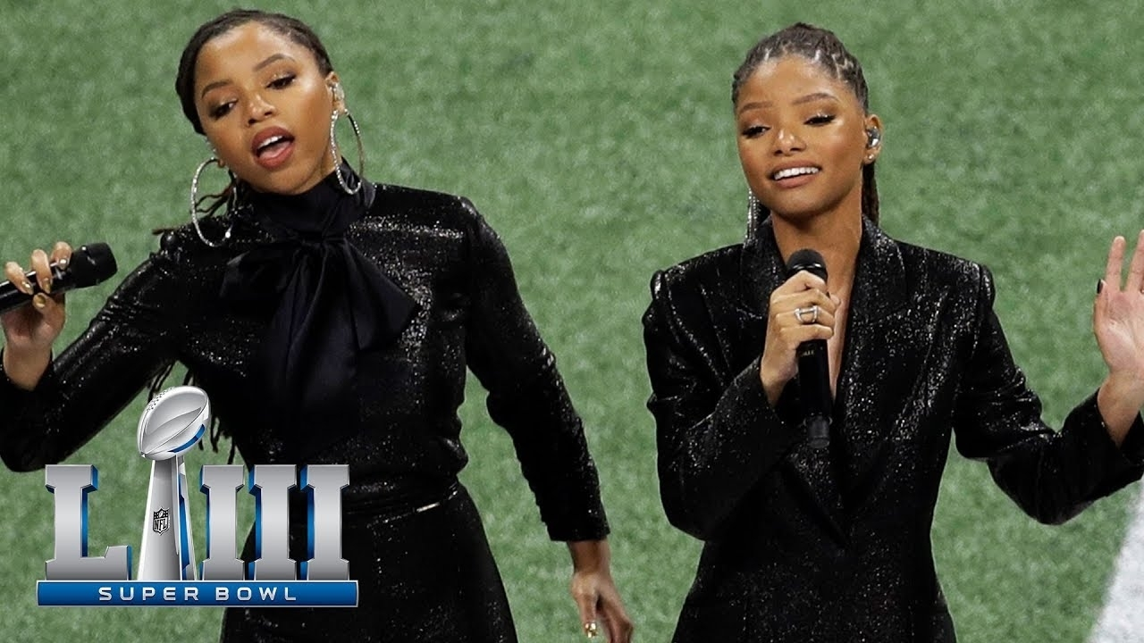 Chloe X Halle Sing America The Beautiful | Super Bowl Liii Nfl Pregame for America The Beautiful Super Bowl 2019