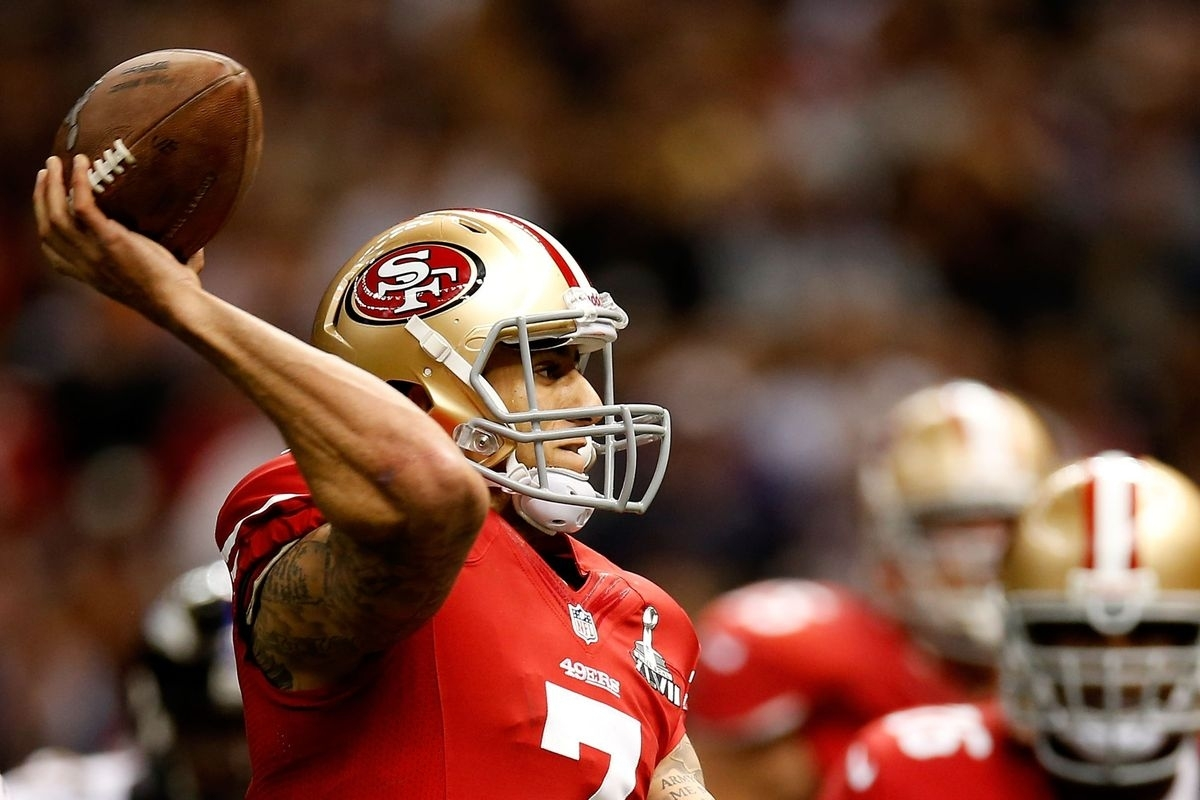 Colin Kaepernick Pass Is Too Long, Ravens Win Super Bowl within Colin Kaepernick Super Bowl