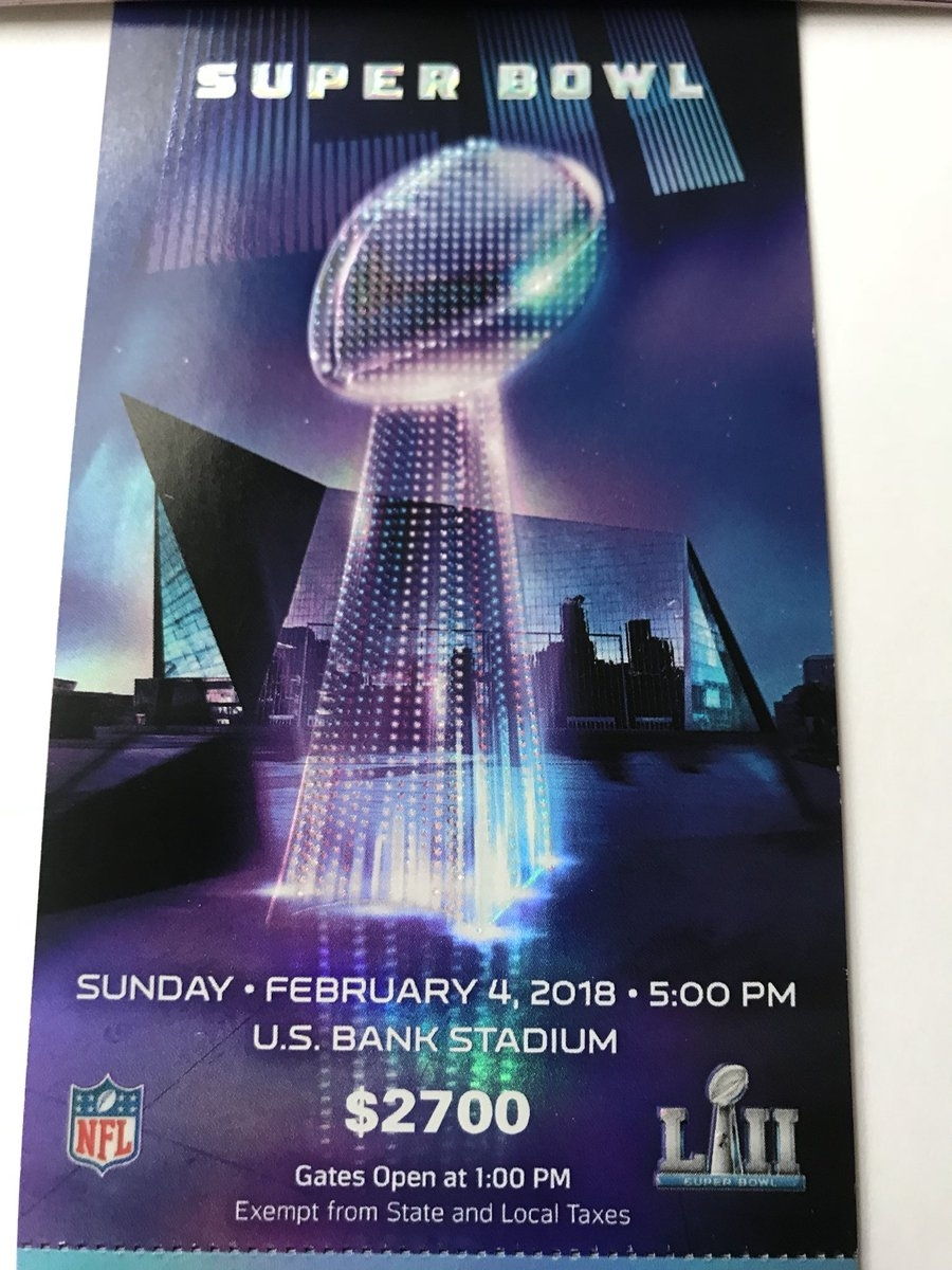 """Darren Rovell On Twitter: """"look: Super Bowl Lii Tickets Are pertaining to Super Bowl Tickets 2018"""