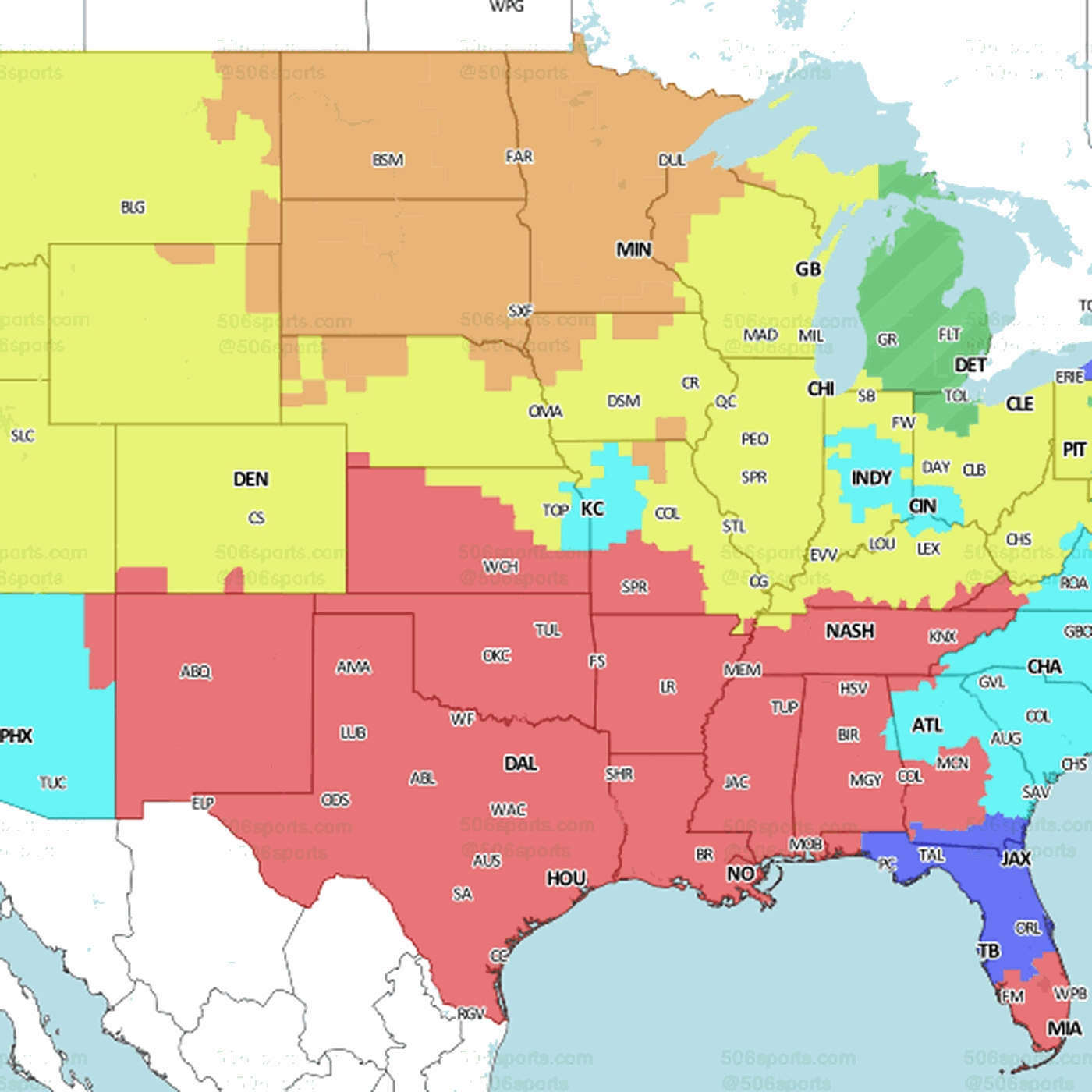 Denver Broncos At Green Bay Packers: Tv Broadcast Map For in Map Of Super Bowl Wins By Country