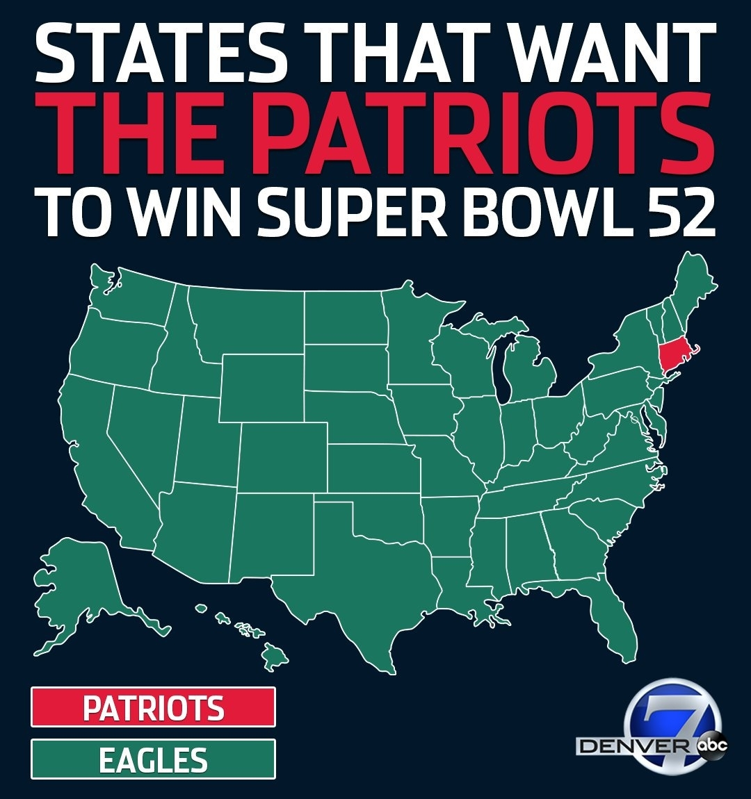 """Denver7 News On Twitter: """"excited For #superbowl Sunday with Map Of Who Wants To Win Super Bowl"""