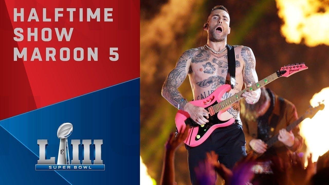 Die Super Bowl Liii Halftime Show Mit Maroon 5 Feat. Travis inside Maroon 5 Travis Scott