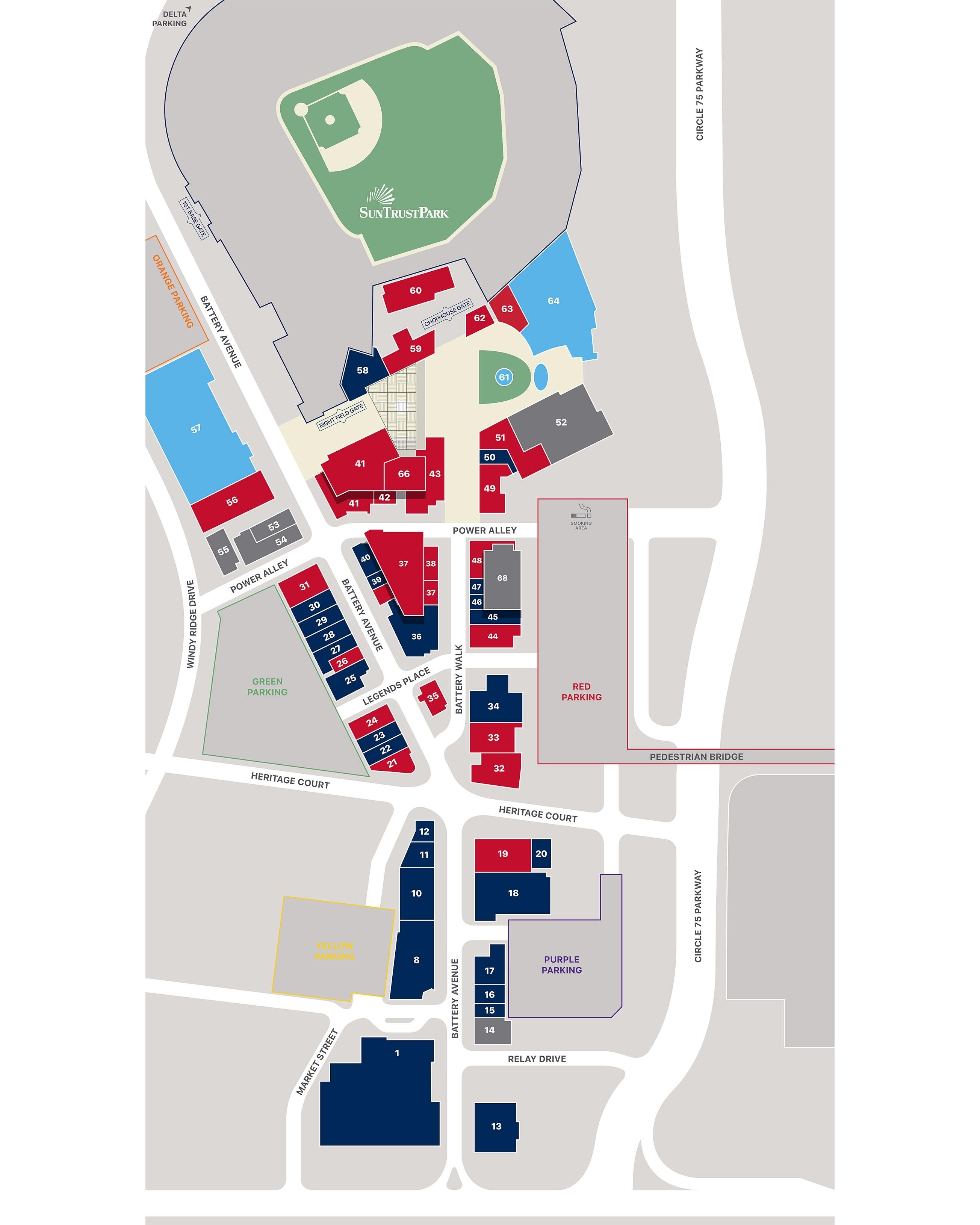 Directory | The Battery Atlanta | Atlanta Braves with regard to Super Bowl Live Atlanta Map