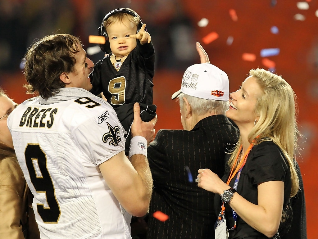 Drew Brees, Brittany Brees, Baylen Brees - Drew Brees And within Drew Brees Super Bowl
