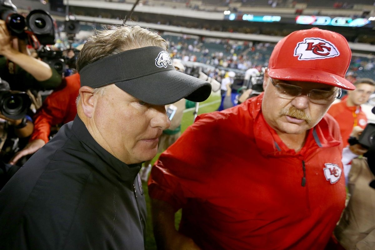 Eagles News: Chip Kelly And Andy Reid React To regarding Andy Reid Super Bowl