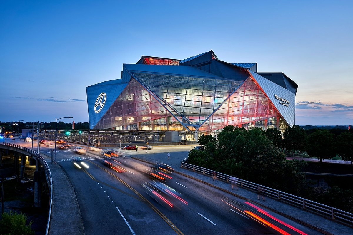 Everything You Need To Know About Super Bowl Liii's Mercedes intended for Mercedes Benz Stadium Super Bowl Map