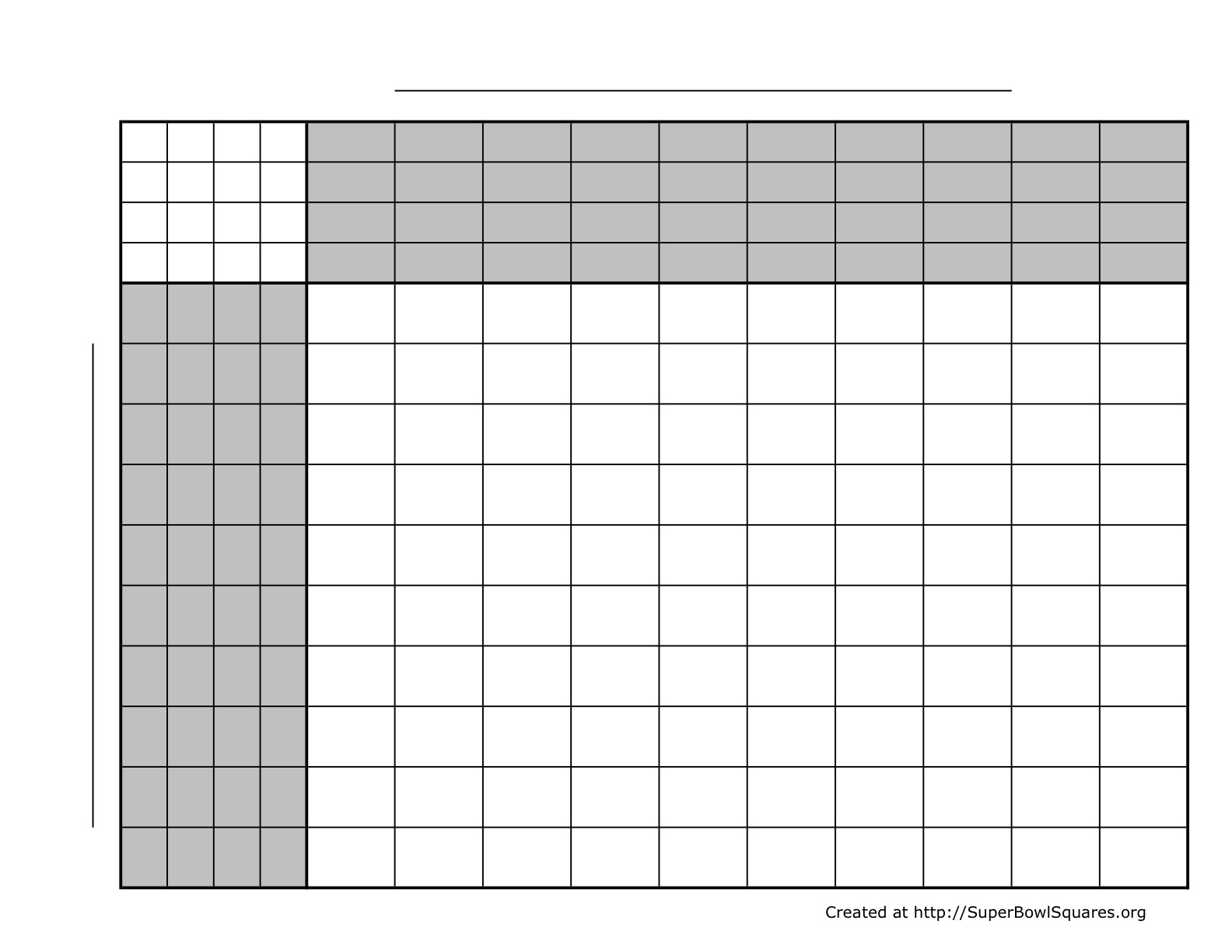 Football Squares | Super Bowl Squares | Play Football pertaining to Super Bowl Board Layout