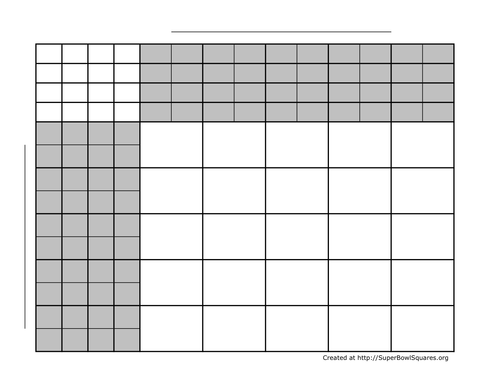 Football Squares | Super Bowl Squares | Play Football throughout Super Bowl Pool Layout