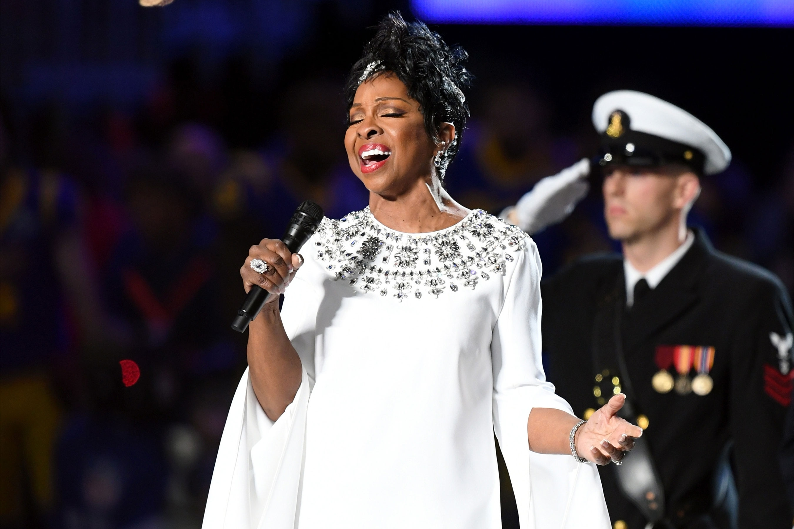 Gladys Knight Performs National Anthem At Super Bowl Liii with Super Bowl Star Spangled Banner 2019