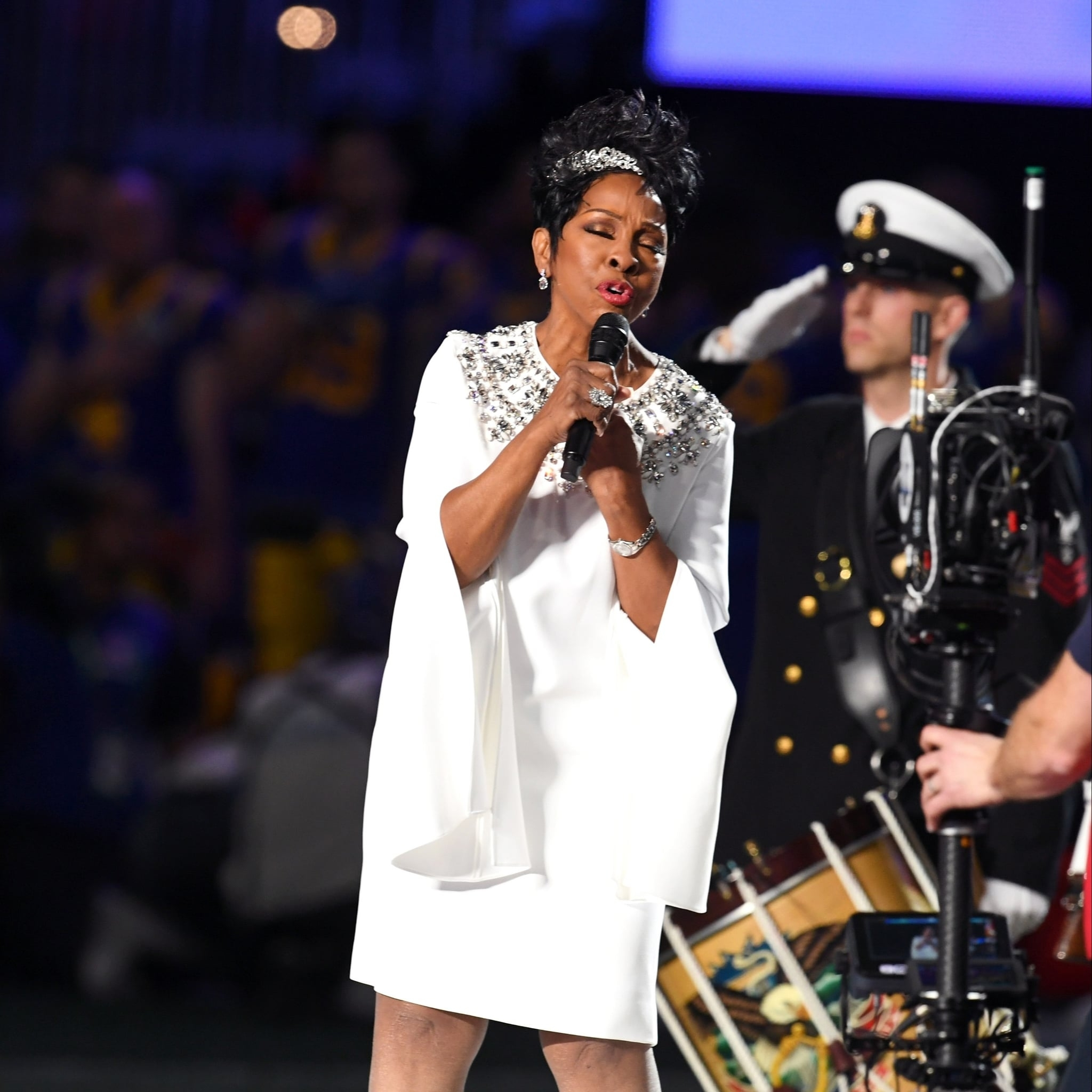 Gladys Knight Sings The National Anthem At Super Bowl 2019 inside Gladys Knight Super Bowl