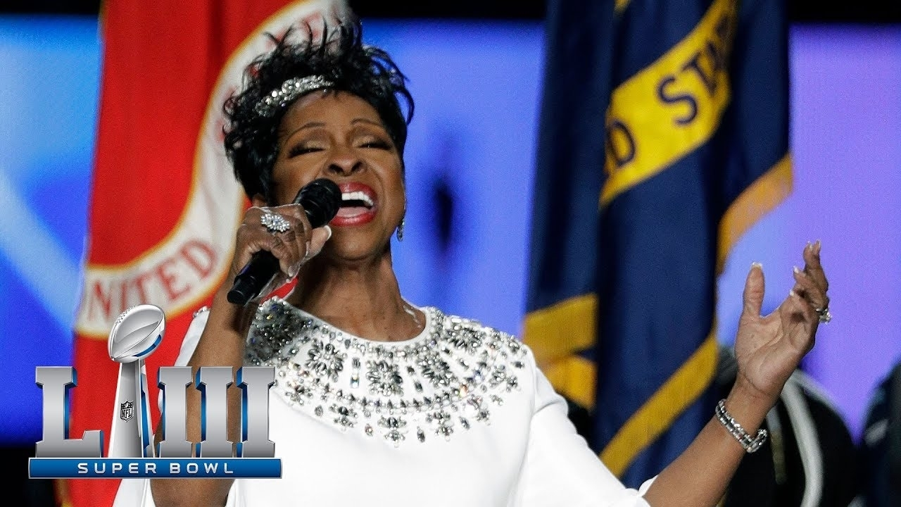 Gladys Knight's Gorgeous Rendition Of The National Anthem!   Super Bowl  Liii Nfl Pregame with regard to Gladys Knight Super Bowl