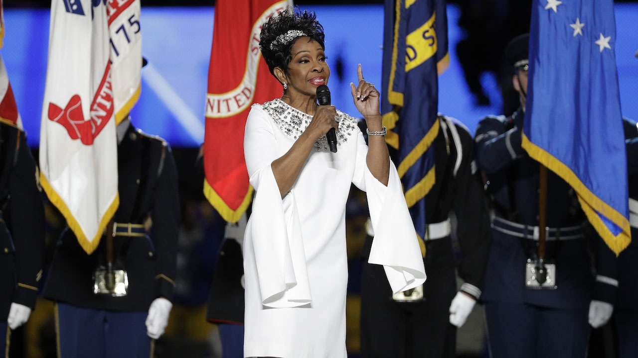 Gladys Knight's National Anthem Performance Before Super throughout Gladys Knight Super Bowl