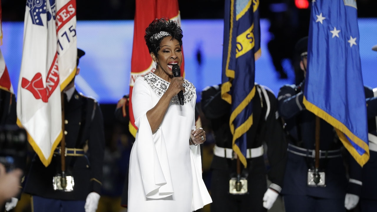 Gladys Knight's National Anthem Performance Before Super within Gladys Knight Super Bowl