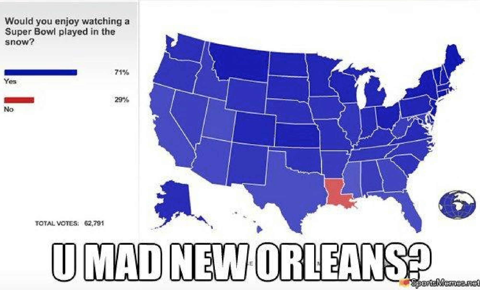 Here Are 12 Jokes About New Orleans That Are Actually Funny within Super Bowl Map Meme