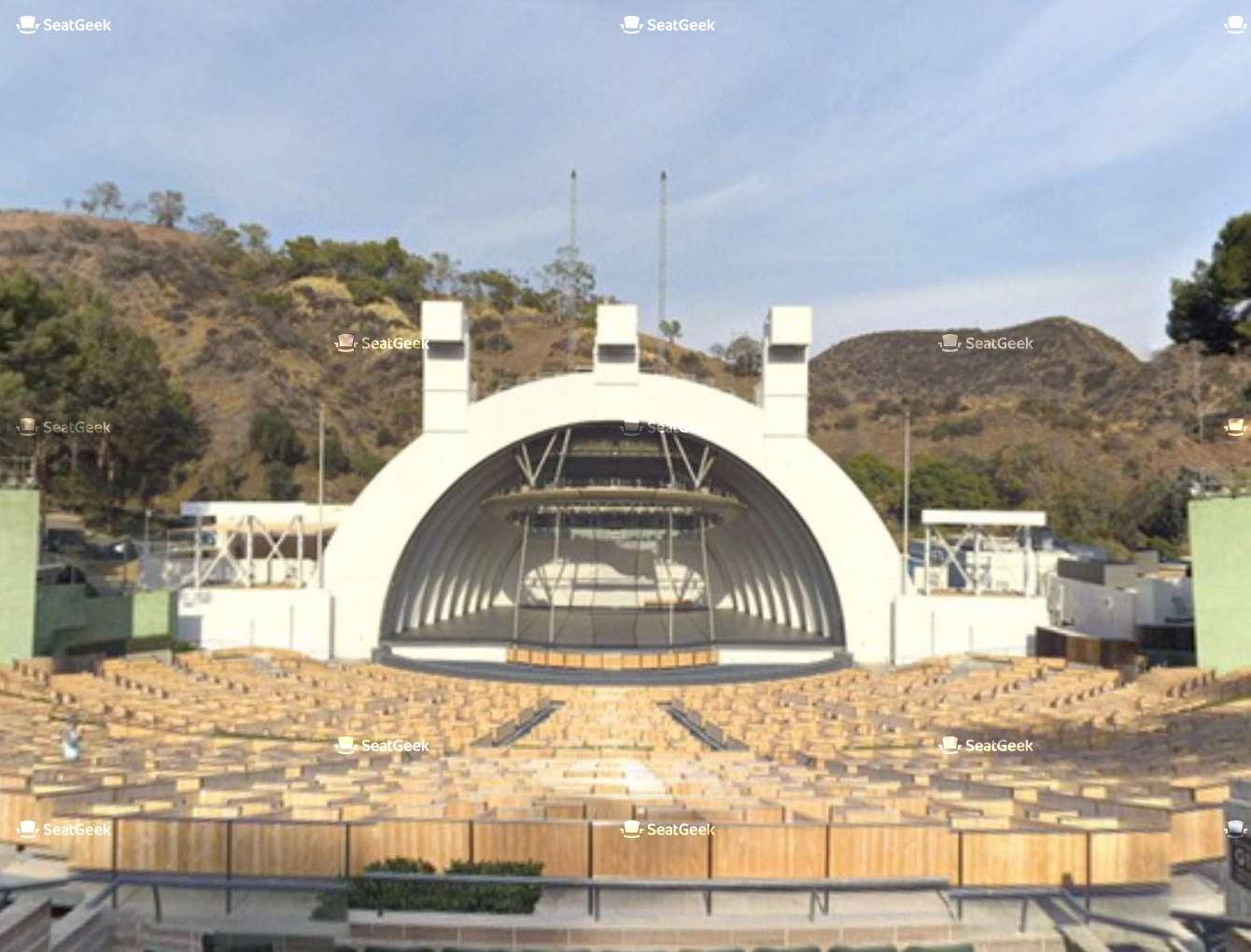 Hollywood Bowl H Seat Views | Seatgeek inside Hollywood Bowl Seating Chart Super Seats