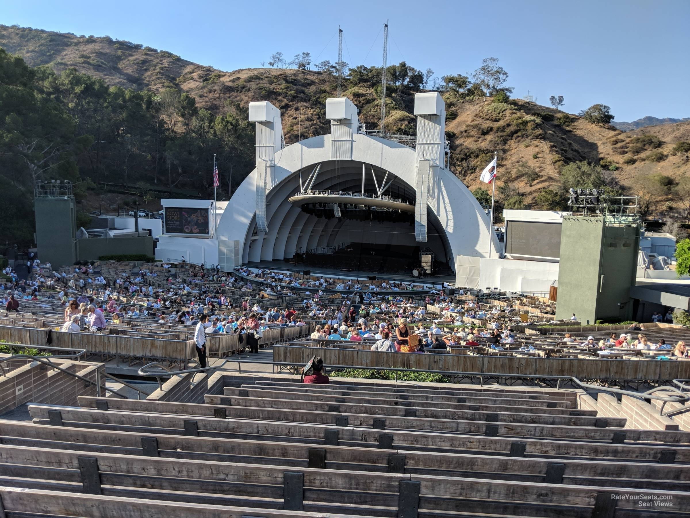 Hollywood Bowl Section F1 - Rateyourseats with Hollywood Bowl Seating Chart Super Seats