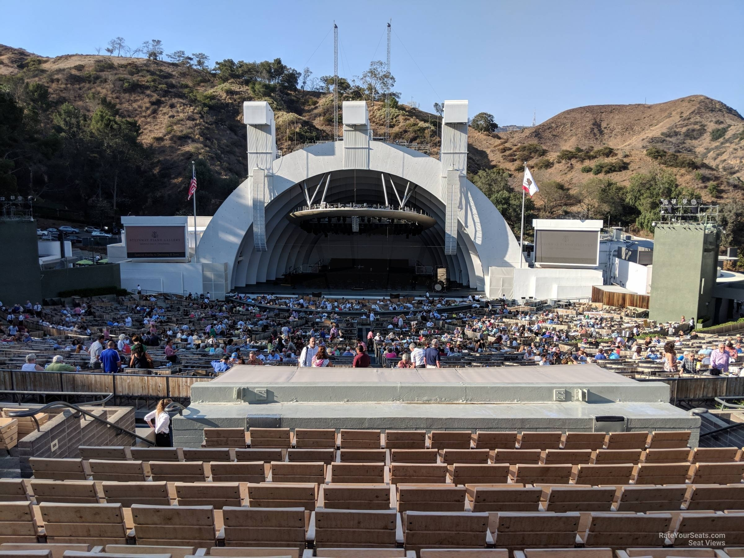 Hollywood Bowl Section G1 - Rateyourseats with Hollywood Bowl Seating Chart Super Seats