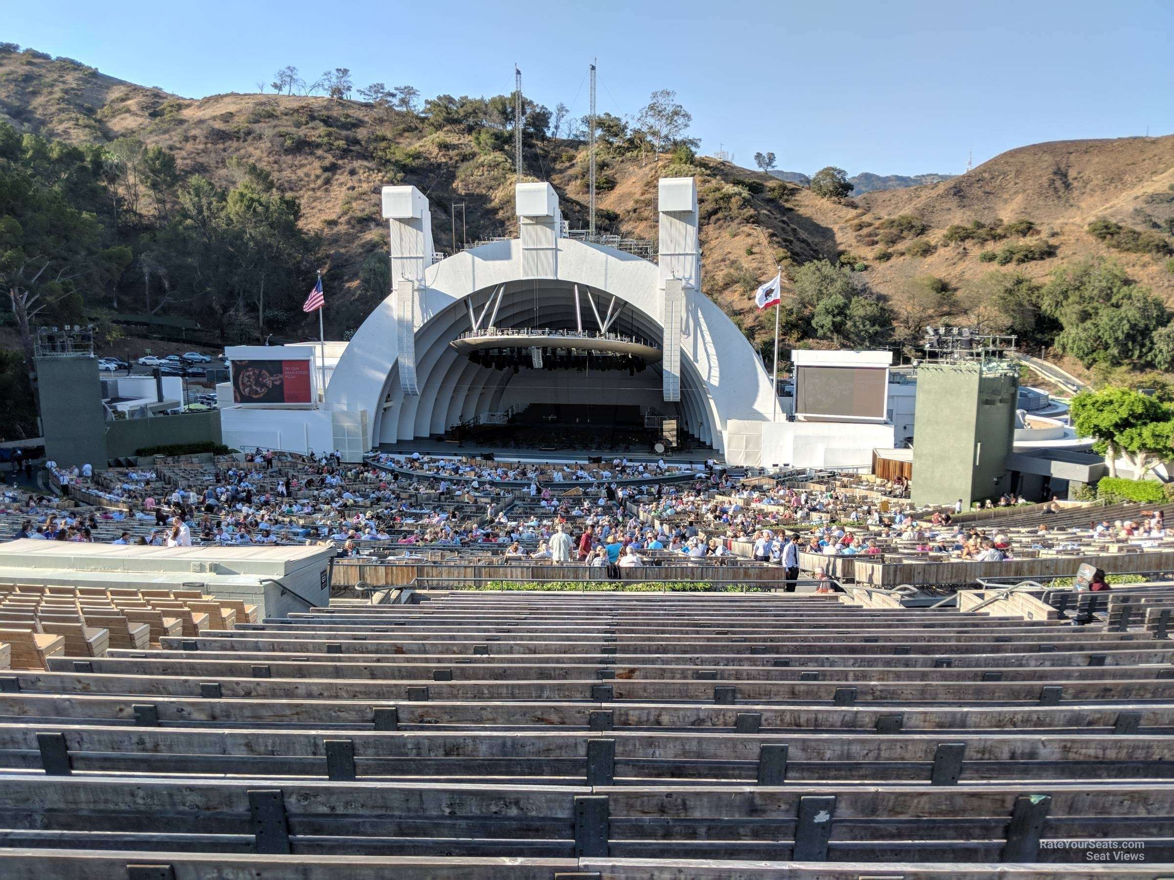 Hollywood Bowl Section G2 - Rateyourseats with regard to Hollywood Bowl Seating Chart Super Seats