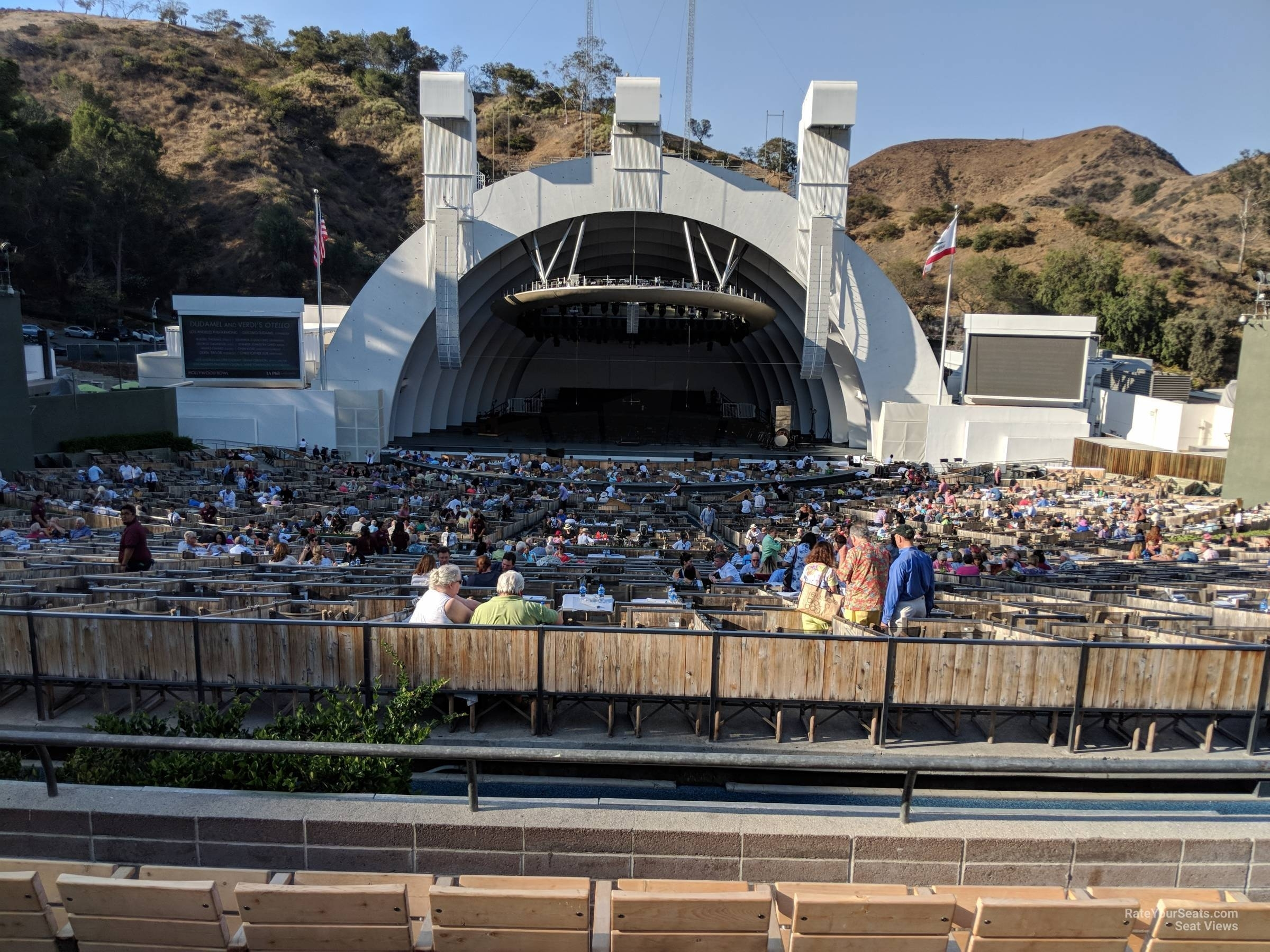 Hollywood Bowl Section H - Rateyourseats with regard to Hollywood Bowl Seating Chart Super Seats