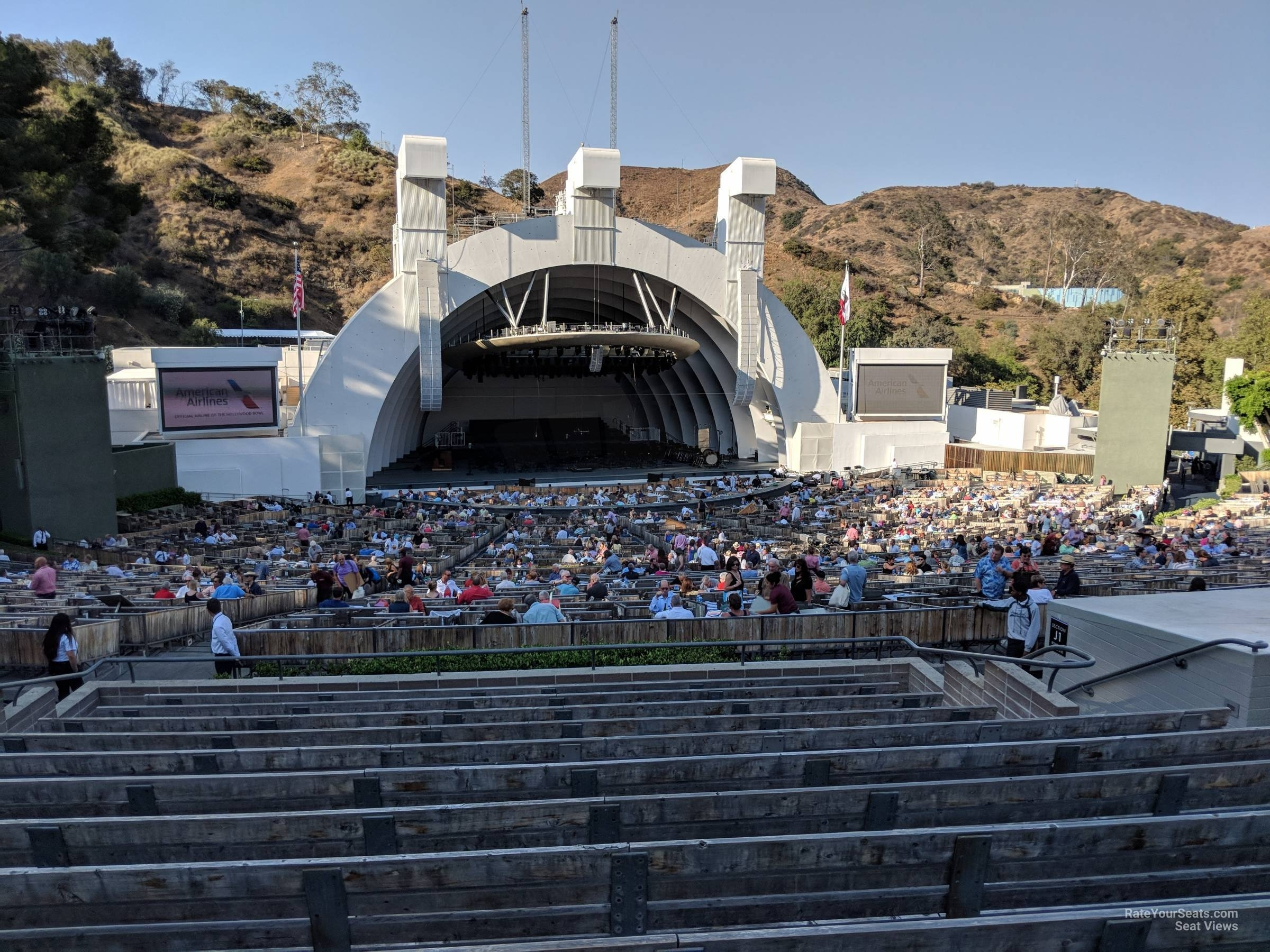 Hollywood Bowl Section J2 - Rateyourseats pertaining to Hollywood Bowl Seating Chart Super Seats