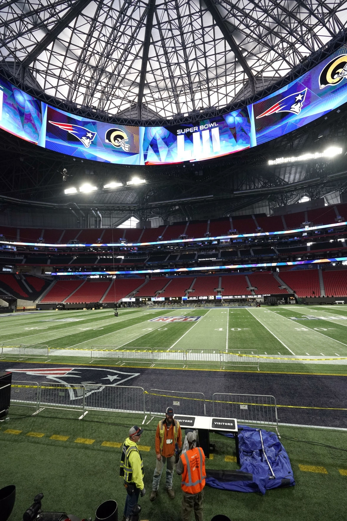 How Mercedes-Benz Stadium Was Transformed For The Super Bowl with Super Bowl Seating Capacity Requirements