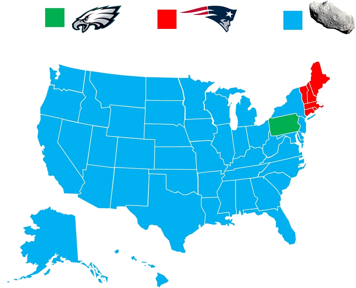 How The Super Bowl Fan Base Breaks Down - Album On Imgur for Map Of Super Bowl Rooting