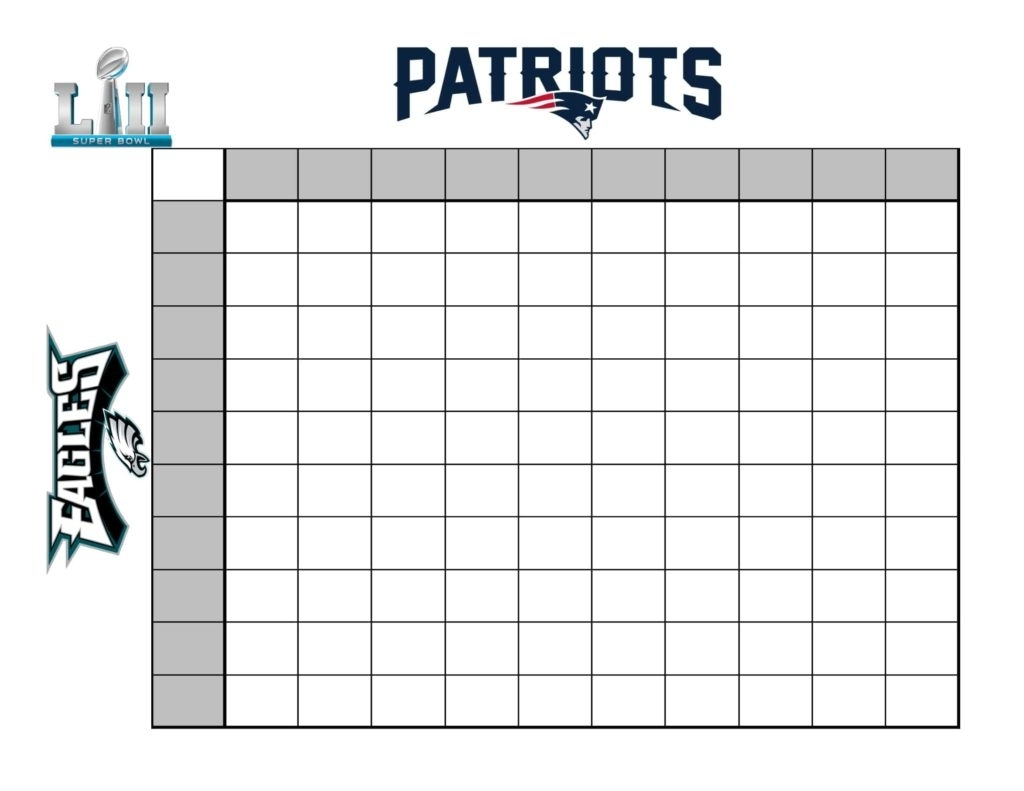 How To Create A (Fun) Super Bowl Betting Chart throughout Super Bowl Pool Layout
