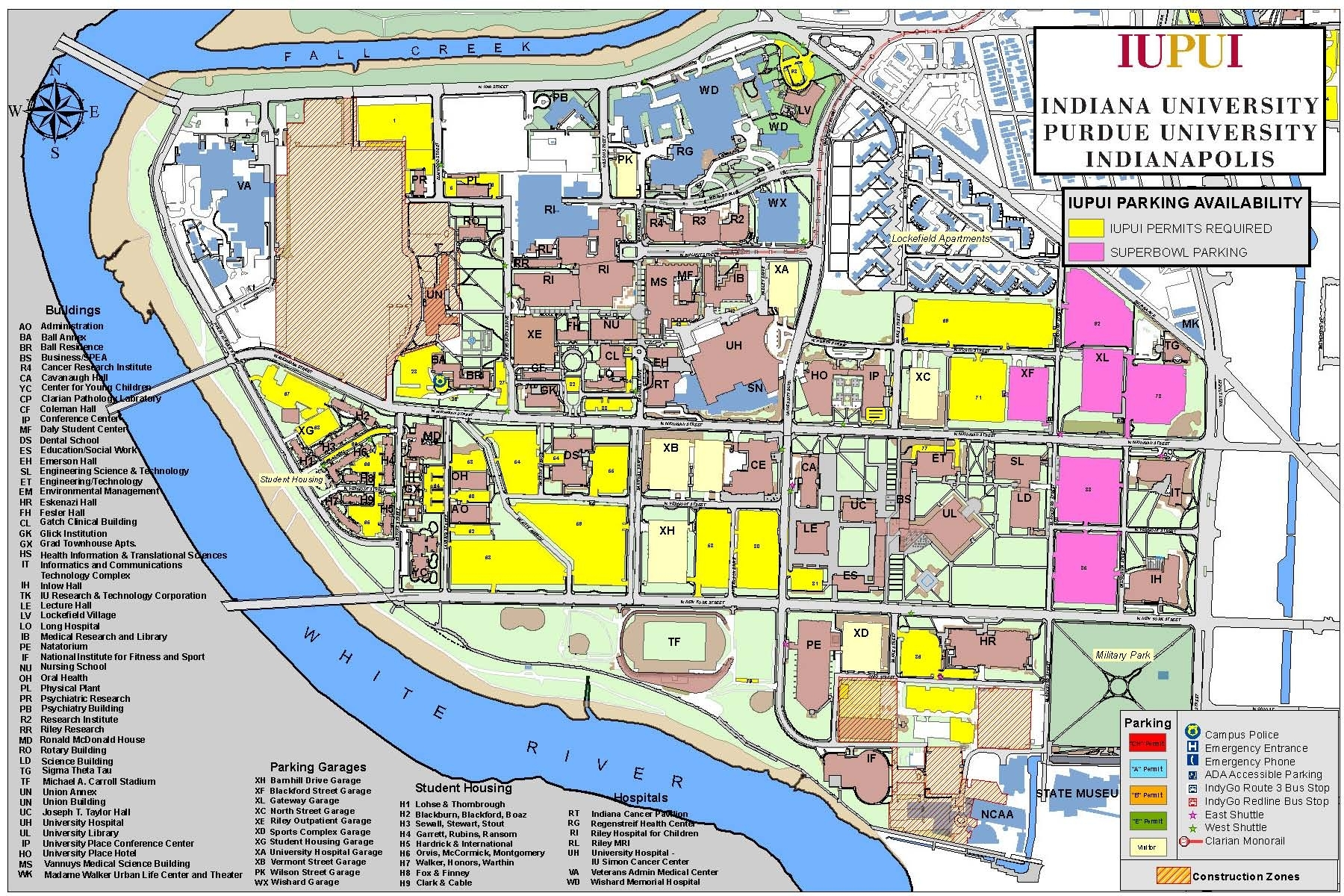 Iupui Campus To Offer Super Bowl Event Parking : Newscenter with Super Bowl Parking Map