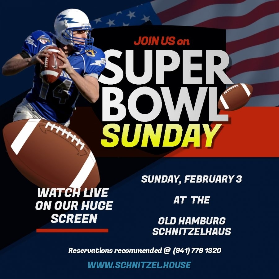 Join Us For Super Bowl 2019 - Old Hamburg Schnitzelhaus with Super Bowl Sunday 2019
